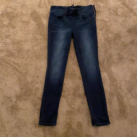 Express Legging High Rise Side Zip Front Tie sz 10